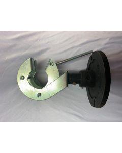 Drehsockel mit Rohrschelle mit Stativplatte