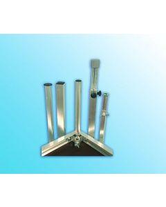 Alu-Steckfüße 60/60 mm / 4 mm Bauhöhe 120 cm