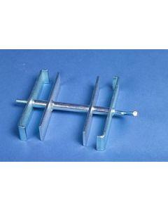 Verbindungsklammer 4-fach für Steckfüße 60/60 mm