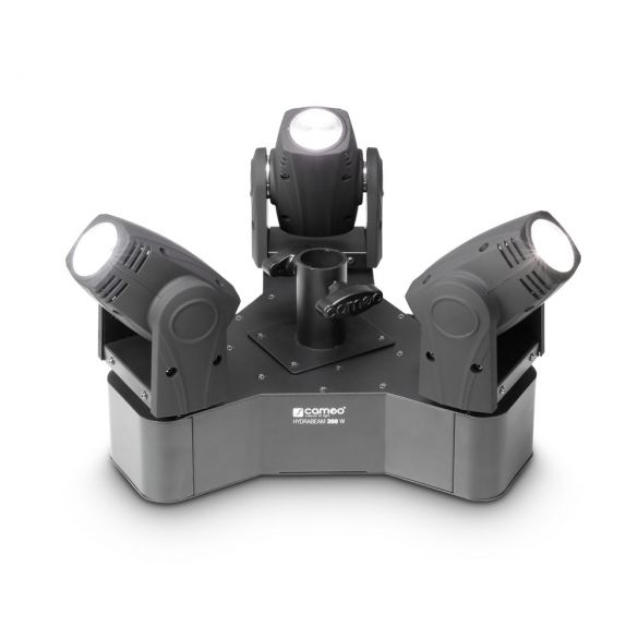 Lichtanlage mit 3 ultraschnellen 10 W Lumi-Engin-LED Moving Heads