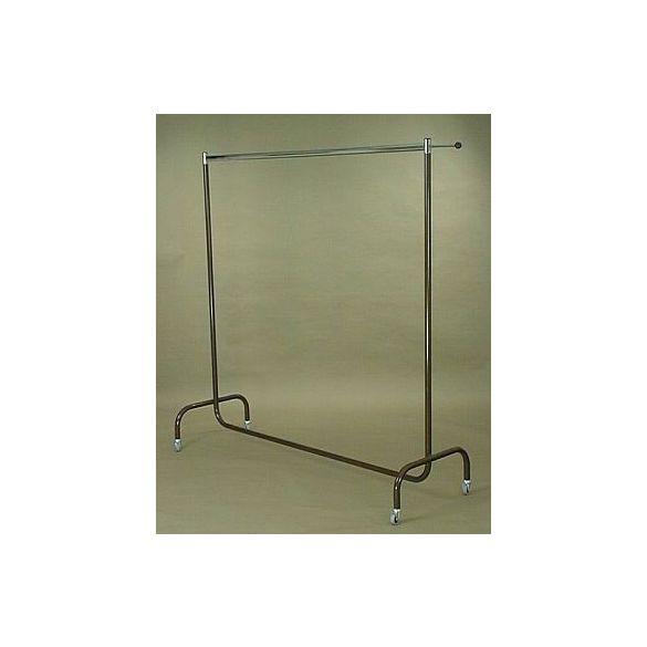 Rollständer 1 Tragestange, L: 180 cm, H: 180 cm, B: 60 cm, lackiert, Laufrollen Ø 50 mm
