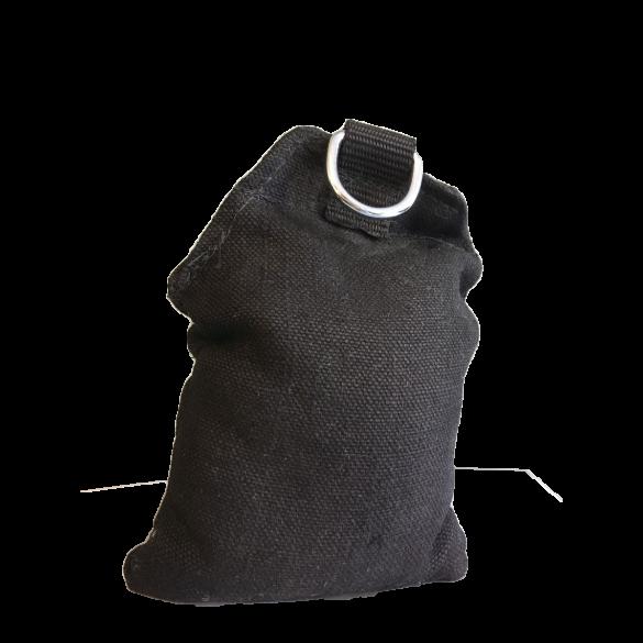 Sandsack, Gewicht ~10,0-12,0kg, befüllt und vernäht, schwer entflammbar, Farbe: Schwarz