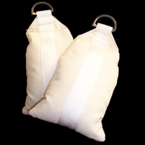 Sandsack, Gewicht ~10,0-12,0kg, befüllt und vernäht, schwer entflammbar, Farbe: Natur